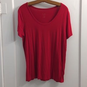 EUC stretchy red top